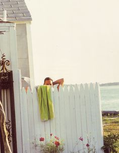 outdoor shower for a beach house so you can wash off sand from the beach.