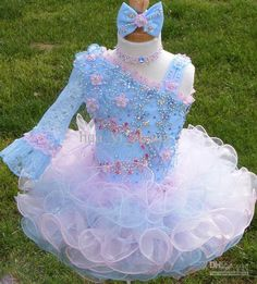 Beautiful Pageant Glitz Cupcake Pageant Dress Toddler Or
