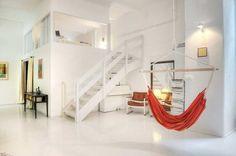 white lofty house