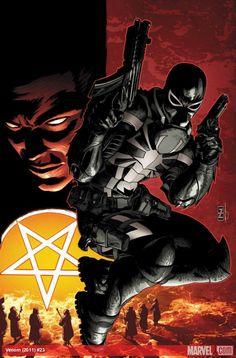 Venom #23 cover by Pat Zircher.