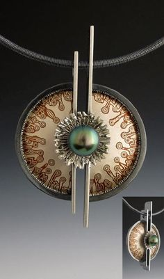 look up lots and lots of hand crafted, classic, and one-of-a-kind goods and items metal jewelry diy jewelry making Mixed Metal Jewelry, Metal Clay Jewelry, Enamel Jewelry, Pendant Jewelry, Jewelry Art, Silver Jewelry, Geek Jewelry, Jewellery, Gothic Jewelry