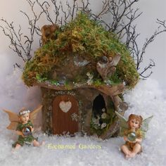 Crystal Heart Stone Fairy House