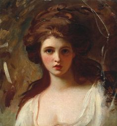 George Romney. Lady Hamilton as Circe. ca. 1782.  Oil on canvas.  Tate Britain. London, UK.