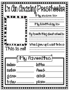 #FreebieFriday ~ All About Me Printables #BacktoSchool