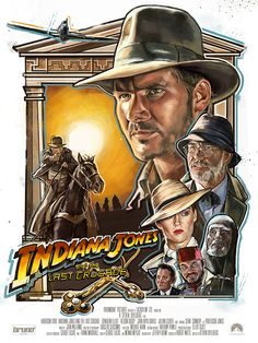 'Indiana Jones and the Last Crusade' I was recently fortunate to be able to work on a private commission of an alternative film poster for Indiana Jones and the Last Crusade. Indiana Jones has always been one of my favorite characters, and just the perfect role for Harrison Ford in my opinion.  As he is a personal hero of mine this is a nod to the style of the great Drew Struzan, with a bit of my own flare!