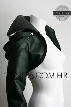 Halloween SAMHAIN special discount !  VANDA rocker leatherette bolero jacket