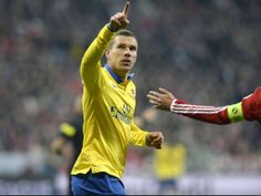 Podolski Salutes the Fans vs Bayern Munich 2013-2014.
