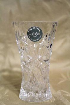 Fine Crystal Lenox Mini Vase Made in Czech Republic