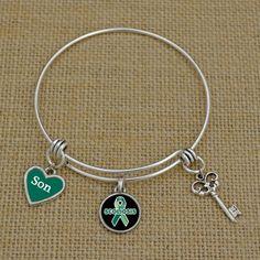 Custom Loved One Scoliosis Awareness Memory Wire Bracelet