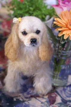 needle felted cocker spaniesl