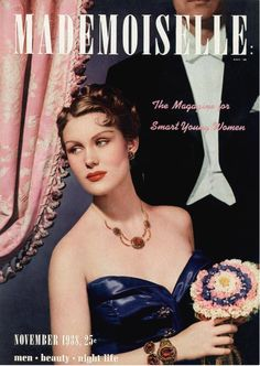 Fashion at the opera. #mademoiselle cover photographed by Paul D'Ome for the November, 1938 issue. #vintagefashion #opera To purchase a print, visit condenaststore.com/?utm_content=buffer65be5&utm_medium=social&utm_source=pinterest.com&utm_campaign=buffer