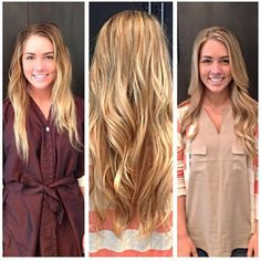 Blonde before + after
