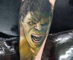 Hulk tattoo by Dave Paulo