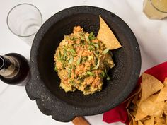 A simple guacamole, with a bit of chipotle puree, is the perfect pair for smoked whitefish.