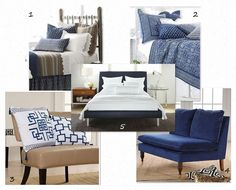 loving blue and white decor lately