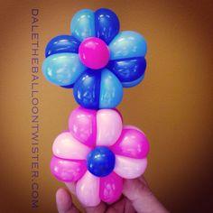 Woven balloon flowers.