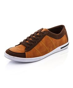 Loving this Tan Contrast Sport Sneaker on #zulily! #zulilyfinds