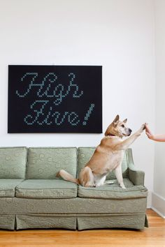 {high five!} giant cross-stitch. this is so rad!