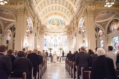 Ornate St. Catharine Church Wedding Ceremony | St. Catharine Church | Mustillo's Bridal Boutiqtue | Tina Jay Photography https://www.theknot.com/marketplace/tina-jay-photography-harrisburg-pa-389925
