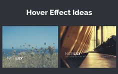 Some More Subtle Hover Effect Ideas