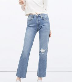 Straight Cut High Waist Jeans #style #fashion #denim