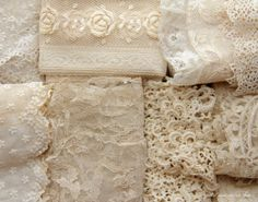 Creamy antique lace - swoon.