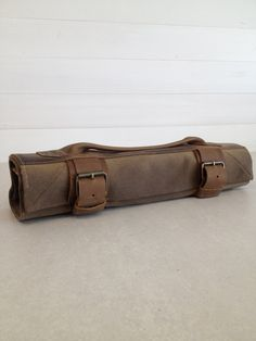 Knife Roll. Waxed Canvas & Oil Tanned Leather, by fullgive on Etsy, $199.00