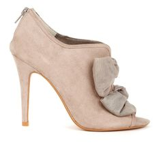 Pink Suede Booties #pink #suede #booties #high_heels