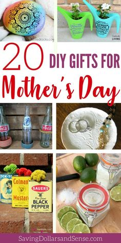 The Most Thoughtful Mother's Day Gifts to Make - Saving Dollars & Sense Homemade Mothers Day Gifts, Gifts For Your Mom, Homemade Christmas Gifts, Mothers Day Crafts, Mother Day Gifts, Homemade Gifts, Holiday Gifts, Baby Shower Baskets, Mason Jar Gifts