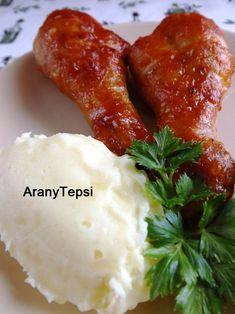 AranyTepsi: Ketchupos sült csirkecomb Tandoori Chicken, Baked Potato, Mashed Potatoes, Baking, Ethnic Recipes, Food, Recipes, Whipped Potatoes, Smash Potatoes