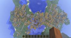 """minecraft is huge 