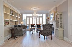 Glamorous Victorian in Yorkville: A set of French doors leads out to a Juliet balcony