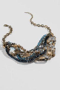 Kiel Statement Necklace in Blue