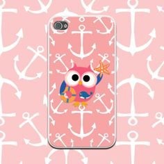 Pink Nautical Anchors Owl Phone Case iPhone 4/4s, iPhone 5/5s, iPhone 5c, Samsung Galaxy Note 3, Galaxy S5, Galaxy S4, Galaxy S3 by NouveauGypsyDesigns, $14.99