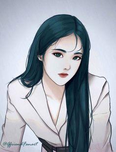 Fanarts Anime, Anime Chibi, Sinb Gfriend, Cute Love Gif, Digital Art Girl, Kpop Fanart, Anime Art Girl, Aesthetic Anime, Cartoon Art