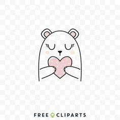Free Cute love bear clip art Bear Illustration, Love Bear, Cute Love, Snoopy, Clip Art, Creative, Free, Fictional Characters, Fantasy Characters