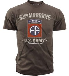 Men's Army T-Shirt - US Army 82nd Airborne - Retro