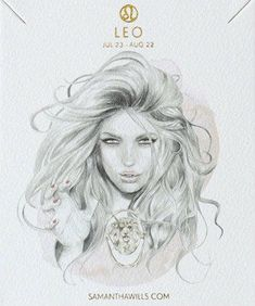 kelly smith illustration & samantha wills jewelry // leo. #leo #astrology #zodiac