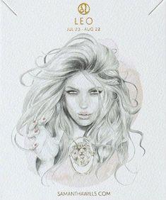 kelly smith illustration & samantha wills jewelry // leo. #leo #astrology #zodiac