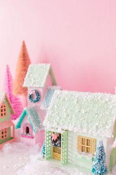 DIY Colorful Christmas Village | studiodiy.com