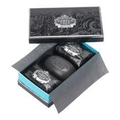 lovely scented black Portuguese soaps! Lovely design !