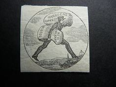 USA Local Harndens Express | eBay, I think this is not a postage stamp but an image cut from the firm's letterhead. It likely dates from about 1843. The similar Blood's stamp seems to have been adapted from this image.