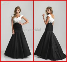 Wholesale Formal Dress - Buy 2013 Modern White Black 6806 Pleated Beaded Mermaid Sexy Evening Prom Dresses Bridesmaid Gowns Dress, $147.73 | DHgate