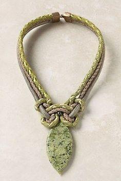 Keramik lange hängende handgemachte ethnische Halskette Vintage Frauen Schmuc ZG