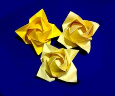 "Video tutorial ""Fukuyama Rose"" is designed by Fukuyama Tech High How to make an easy origami flower - kusudama for kids Easy and rich paper flower. Ideas for Mother's day -..."