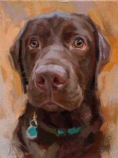 "Daily Paintworks - ""Charlie"" - Original Fine Art for Sale - © Oleksii Movchun Animal Paintings, Animal Drawings, Canvas Paintings, Dog Portraits, Dog Art, Painting & Drawing, Renaissance, Wolf, Artwork"
