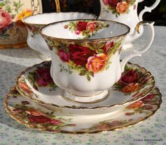 Royal Albert Old Country Roses Teacup Trio. I have always loved this set, will be mine one day!