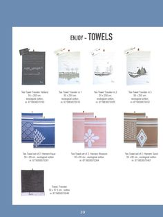 Tea towels, towel, ecological cotton. From the series Traveler and hamam. In fresh pink and blue or classic brown. And of course graphic gray / grey tones, in a landscape with trees or Dutch canal houses | www.kiem-wayoflife.com