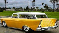 1957 Chevy custom Nomad Wagon - My old classic car collection American Classic Cars, Old Classic Cars, Station Wagon Cars, Chevy Nomad, Dodge, Classic Chevy Trucks, Chevy Classic, Chevy Muscle Cars, Old School Cars