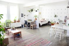 http://www.apartmenttherapy.com/house-tour-hannahs-creative-oakland-studio-apartment-230896
